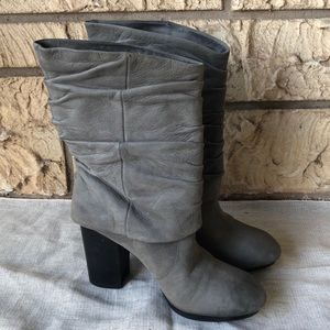Vince Camuto Cassandra Boots Gray Slouch Size 9 B